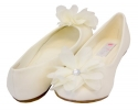 Cinderella Flats with Flower for Girls Infant/Children's Shoe Size: Children's 4 Shoe Color: Ivory