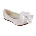 Cinderella Flats with Flower for Little Kids (White, Little Kid 11)