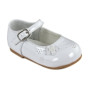 Amanda's Shiny Party Shoes (Infants 3, White)