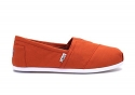 Toms Classics Bright Orange Canvas 10008359 Mens 7