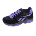 iMaySon(TM) Women's Comfortable Heighten Lace-up Shoes Breathable Sports Running Sneaker(35 M EU/5 B(M) US, Purple)