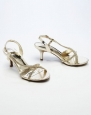 Wedding & Bridesmaid Shoes Asymmetrical Rhinestone Sandal Gold Metalic