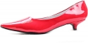 Women's Qupid Quisa-01 Red 1.25 Fashion Pumps Shoes, Red, 6