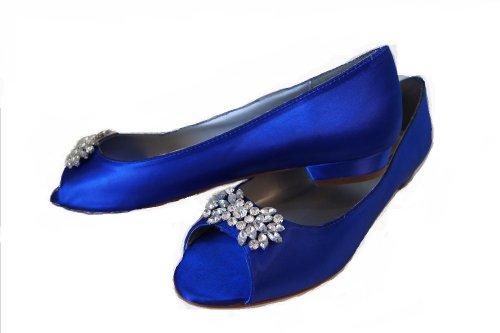 Wedding Shoes Sapphire Blue Crystal Embellishments 1 2 Inch Heel Parisxox By Arbie Goodfellow