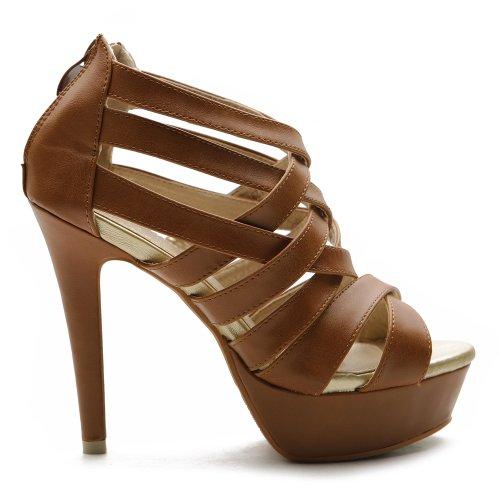ollio womens shoes platform high heels multi colored
