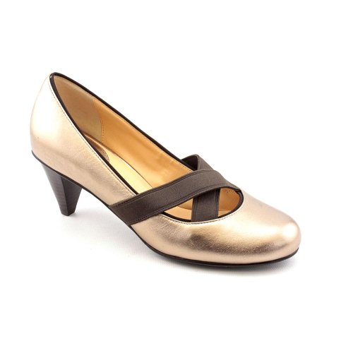 Cole Haan Air LyricPump Womens Size 85 Gold Leather Pumps Heels Shoes Cole Haan Cole Haan